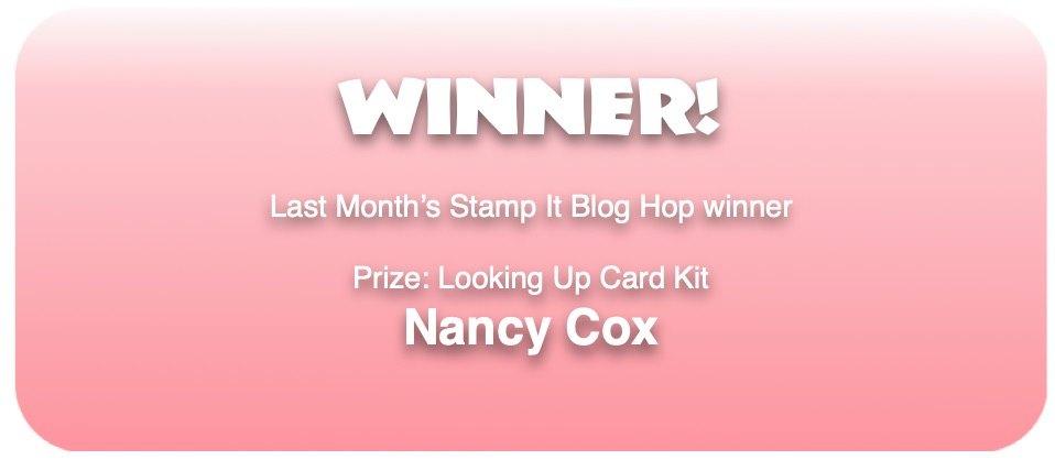 Winner from last blog hop announcement