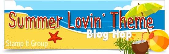 Summer Lovin' Blog Hop banner with beach scene